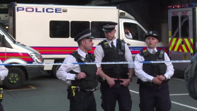 a van ran into pedestrians near a north london mosque killing one man and injuring eight others in an incident that police say was being investigated... - counter terrorism stock videos & royalty-free footage