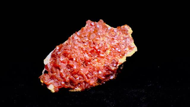 vanadinite mineral - gemology stock videos & royalty-free footage