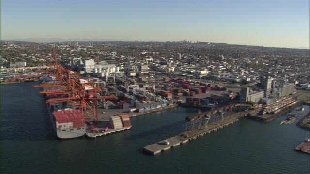 WS POV Vancouver shipyard / Vancouver, British Columbia, Canada