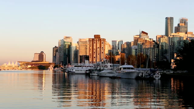 Skyline von Stanley Park in Vancouver Coal Harbour