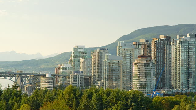 vancouver skyline - vancouver canada stock videos and b-roll footage