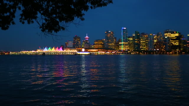 vancouver skyline - real time stock videos & royalty-free footage