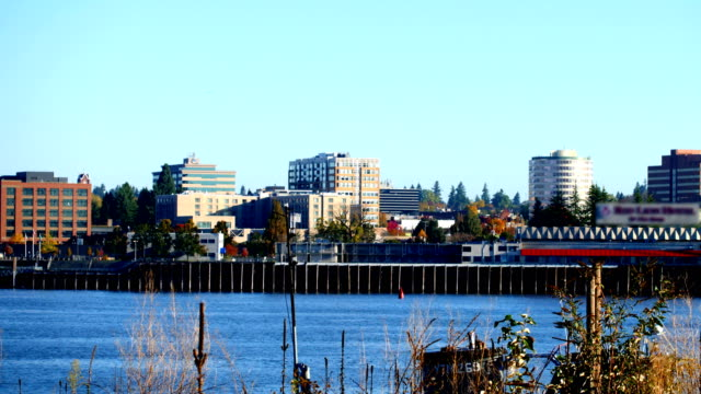 vancouver, washington - stato di washington video stock e b–roll