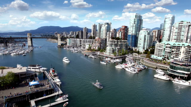 vancouver waterfront, canada - waterfront stock videos & royalty-free footage