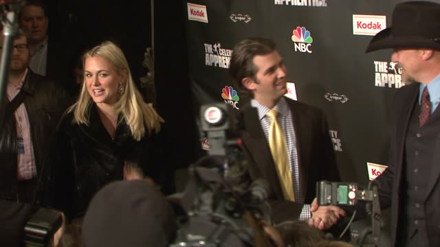 vanessa and donald trump jr and trace adkins at the 'celebrity apprentice' viewing party at tenjune in new york, new york on february 7, 2008. - vanessa trump stock videos & royalty-free footage