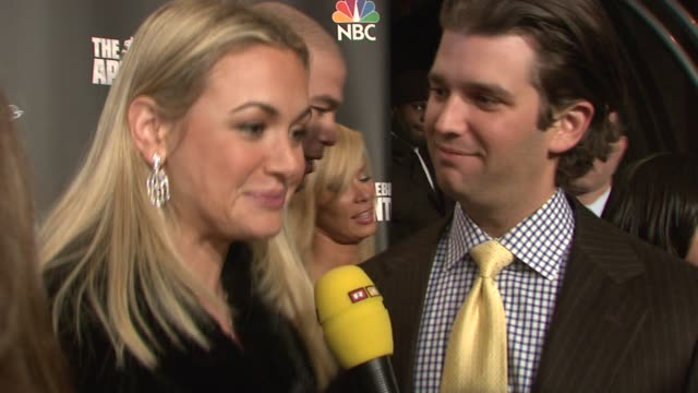 vanessa and donald trump jr at the 'celebrity apprentice' viewing party at tenjune in new york, new york on february 7, 2008. - vanessa trump stock videos & royalty-free footage