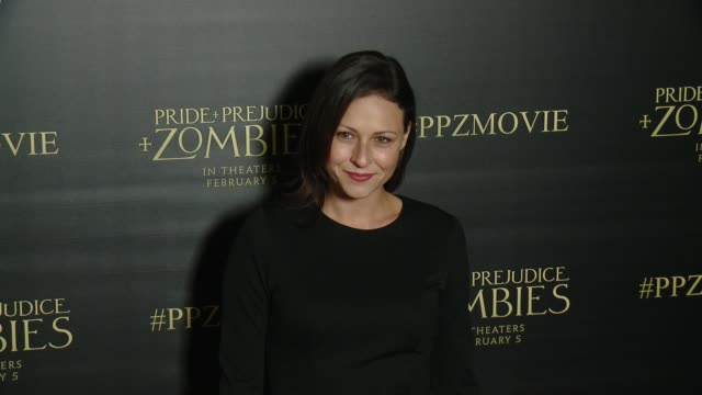 Vanessa Cloke at the 'Pride And Prejudice And Zombies' Los Angeles Premiere at Harmony Gold Theater on January 21 2016 in Los Angeles California