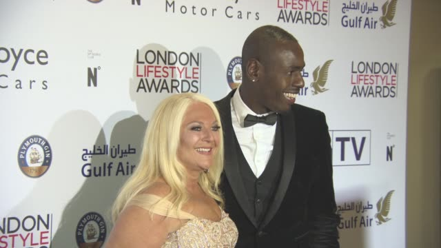 vanessa feltz and ben ofoedu at london lifestyle awards at lancaster london hotel on october 3, 2016 in london, england. - vanessa feltz stock videos & royalty-free footage