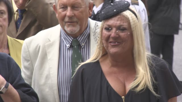 vanessa feltz at a service of thanksgiving for the life and work of sir terry wogan at westminster abbey on september 27, 2016 in london, england. - terry wogan stock-videos und b-roll-filmmaterial