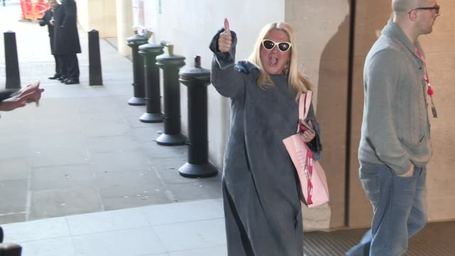 stockvideo's en b-roll-footage met vanessa feltz at comic relief celebrity sightings at bbc radio one on march 14, 2013 in london, england - vanessa feltz