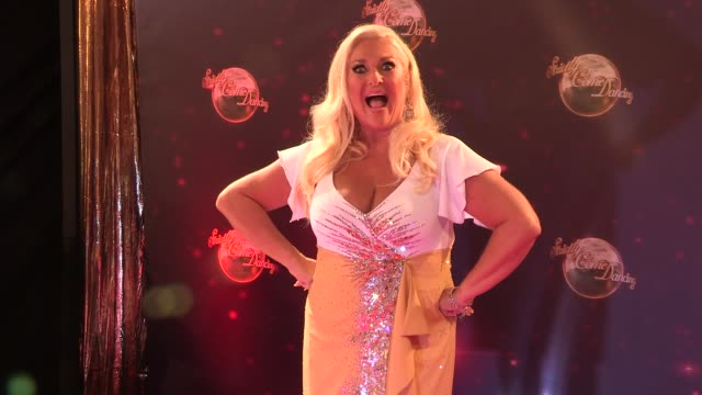 stockvideo's en b-roll-footage met vanessa feltz at strictly come dancing at elstree studios on september 03, 2013 in borehamwood, england - vanessa feltz