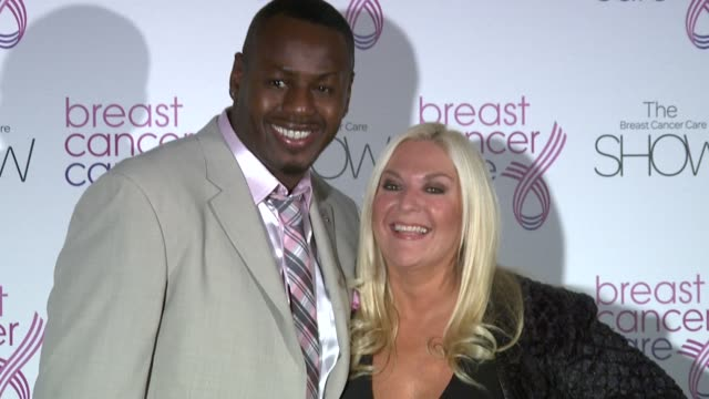 stockvideo's en b-roll-footage met vanessa feltz at the the breast cancer care show at london england. - vanessa feltz