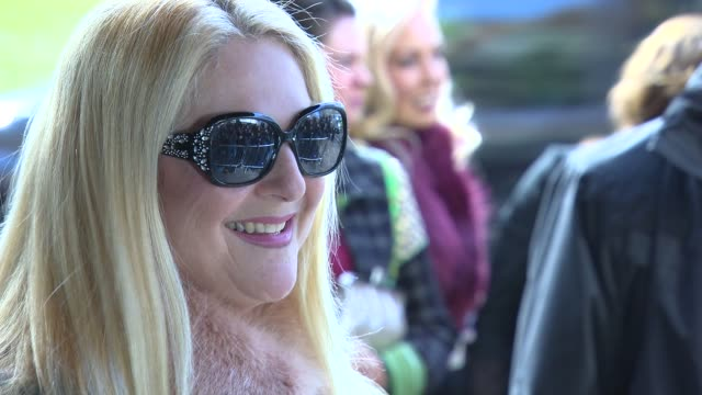 stockvideo's en b-roll-footage met vanessa feltz at tric awards at grosvenor house, on march 10, 2015 in london, england. - vanessa feltz