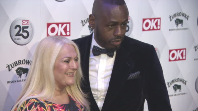 stockvideo's en b-roll-footage met vanessa feltz, ben ofoedu at ok! magazine 25th anniversary party at the view from the shard on march 21, 2018 in london, england. - vanessa feltz