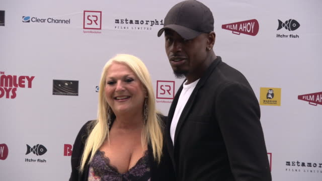 vanessa feltz, ben ofoedu at the bromley boys - uk premiere at wembley stadium on may 24, 2018 in london, england. - vanessa feltz stock videos & royalty-free footage