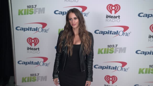 vanessa grimaldi at the kiis fm's iheartradio jingle ball 2017 at the forum on december 1 2017 in inglewood california - inglewood video stock e b–roll