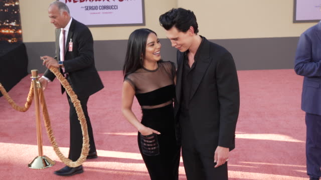"""vanessa hudgens and austin butler at the """"once upon a time in hollywood"""" premiere at tcl chinese theatre on july 22, 2019 in hollywood, california. - tcl chinese theatre stock videos & royalty-free footage"""