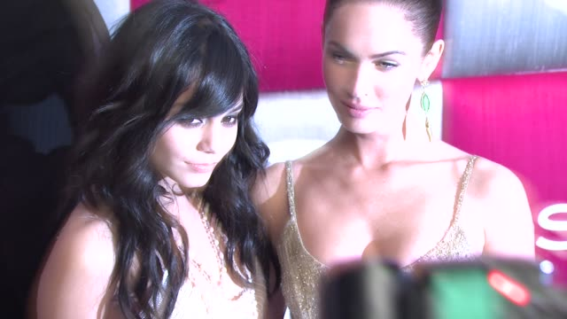 vanessa hudgens and megan fox at the in style and warner bros studios 10th annual golden globes afterpart at los angeles ca - megan fox stock videos and b-roll footage