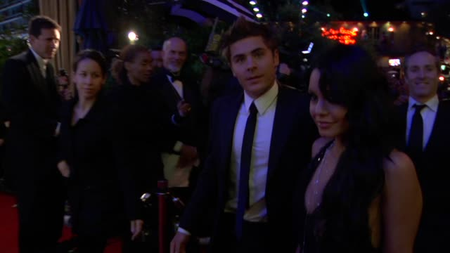 vanessa hudgens and zac efron at the 2010 vanity fair oscar party hosted by graydon carter at west hollywood ca - 2010 stock videos & royalty-free footage