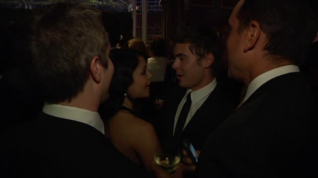 vanessa hudgens and zac efron at the inside the vanity fair oscar party 2010 at west hollywood ca - vanity fair video stock e b–roll