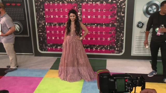 vanessa hudgens at the 2015 mtv video music awards at microsoft theater on august 30, 2015 in los angeles, california. - 2015 stock videos & royalty-free footage
