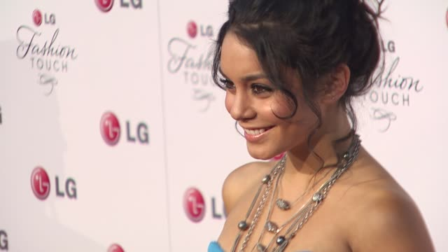 stockvideo's en b-roll-footage met vanessa hudgens at the a night of fashion and technology with lg mobile phones at west hollywood ca - 2010