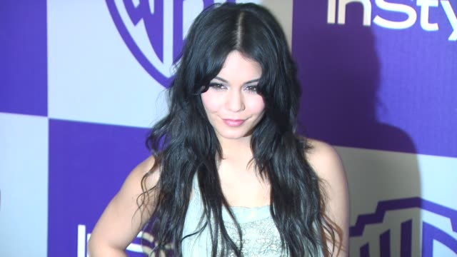 vanessa hudgens at the warner bros and instyle golden globe afterparty at beverly hills ca - 2010 stock videos & royalty-free footage