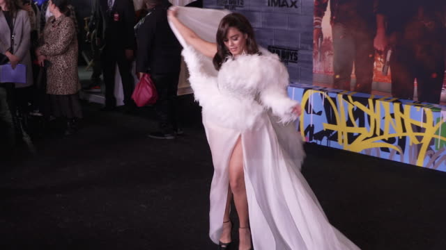 vanessa hudgens at the world premiere of bad boys for life - gif stock videos and b-roll footage