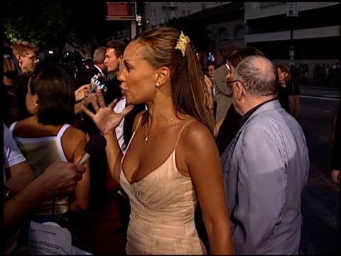 Vanessa L Williams at the 'Dance With Me' Premiere at Hollywood Galaxy Theater in Hollywood California on August 13 1998