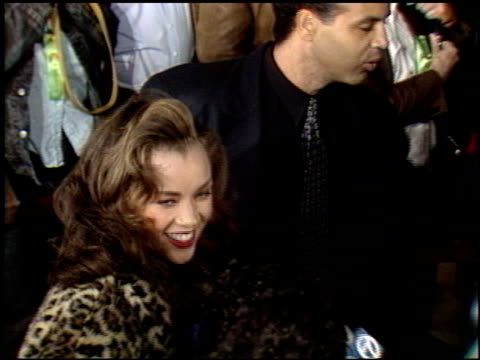 vanessa l williams at the 'harlem nights' premier at grauman's chinese theatre in hollywood california on november 17 1989 - 1989 stock videos & royalty-free footage