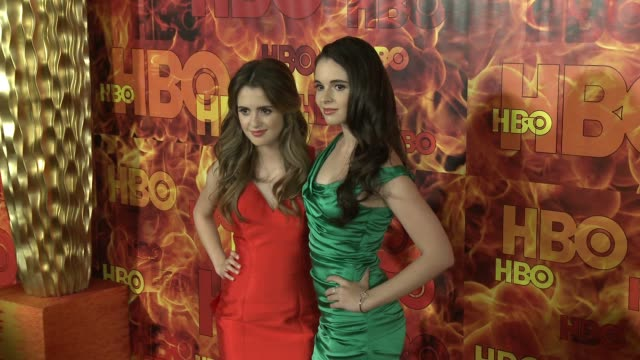 vanessa marano and laura marano at the 2015 hbo emmy after party at the plaza at the pacific design center on september 20 2015 in los angeles... - vanessa marano stock videos and b-roll footage