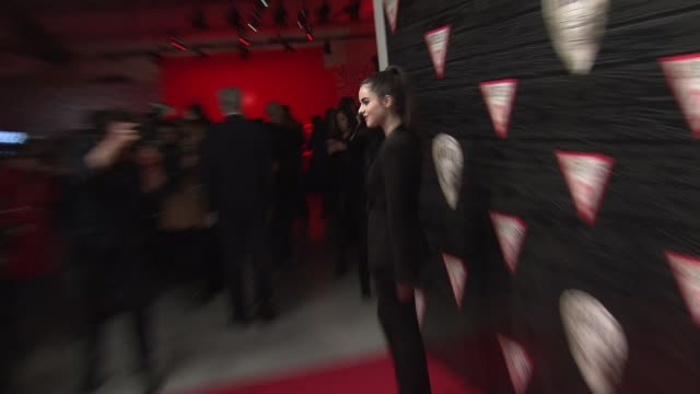 vanessa marano at guess celebrates new york fashion week on the road to nashville on february 11 2014 in new york city - vanessa marano stock videos and b-roll footage