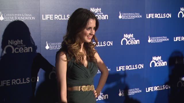 vanessa marano at the life rolls on foundation's 9th annual 'night by the ocean' on in marina del ray ca - vanessa marano stock videos and b-roll footage