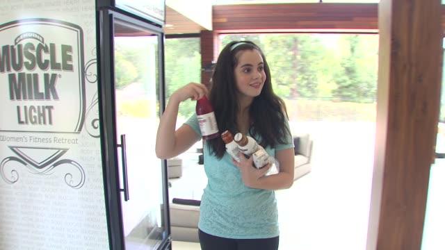 vanessa marano at the muscle milk women's fitness retreat at beverly hills ca - vanessa marano stock videos and b-roll footage