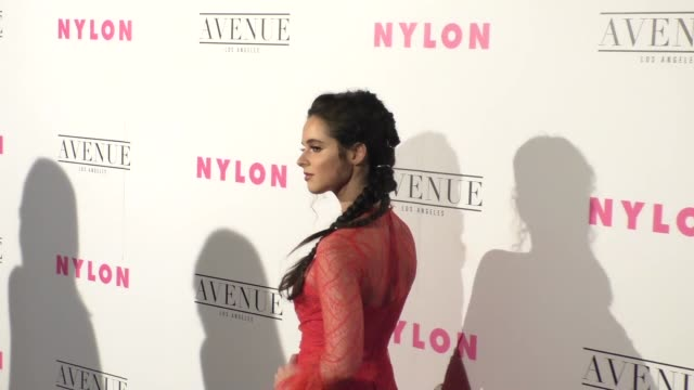vanessa marano at the nylon's annual young hollywood may issue event with cover star rowan blanchard on may 02 2017 in los angeles california - vanessa marano stock videos and b-roll footage