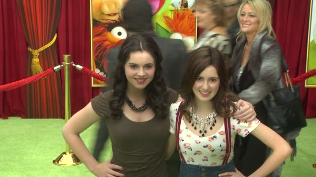 vanessa marano at the the world premiere of walt disney's 'the muppets' at hollywood ca - vanessa marano stock videos and b-roll footage