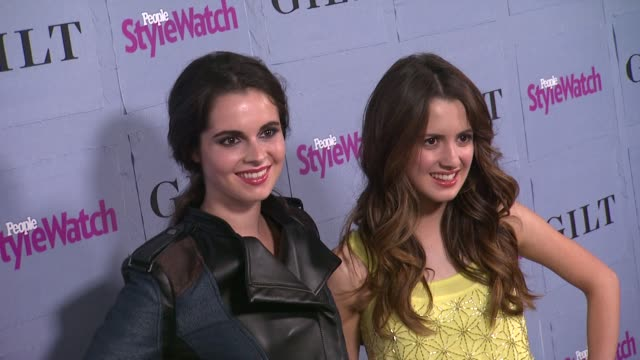 vanessa marano laura marano at people stylewatch hosts hollywood denim party in honor of the magazine's 3rd annual denim issue on 9/19/13 in los... - vanessa marano stock videos and b-roll footage