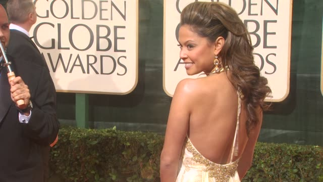 vanessa minnillo at the 67th annual golden globe awards arrivals part 3 at beverly hills ca - ゴールデングローブ賞点の映像素材/bロール