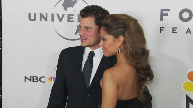 vanessa minnillo nick lachey at the nbc universal 67th annual golden globe awards afterparty at beverly hills ca - nick lachey stock videos & royalty-free footage