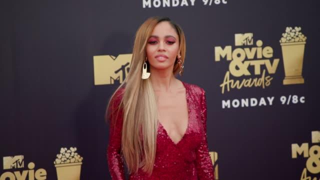 Vanessa Morgan at 2018 MTV Movie TV Awards Arrivals at Barker Hangar on June 16 2018 in Santa Monica California
