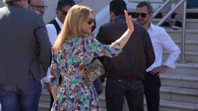 """vanessa paradis attends the """"cette musique ne joue pour personne """" photocall during the 74th annual cannes film festival on july 10, 2021 in cannes,... - cannes stock videos & royalty-free footage"""