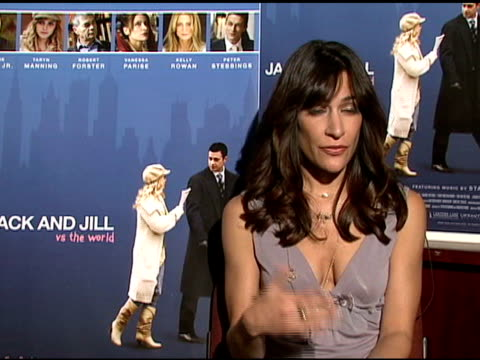 vanessa parise on hoping the film raises awareness of cystic fibrosis at the interview with taryn manning and vanessa parise of 'jack and jill vs the... - taryn manning stock videos & royalty-free footage