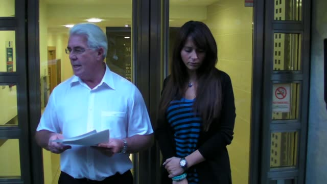 stockvideo's en b-roll-footage met vanessa perroncel with publicist max clifford at the celebrity video sightings in london at london england - publiciteitsmedewerker