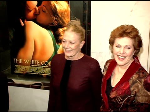 Vanessa Redgrave and Lynn Redgrave at the Merchant Ivory's 'The White Countess' World Premiere at the Paris Theatre in New York New York on November...