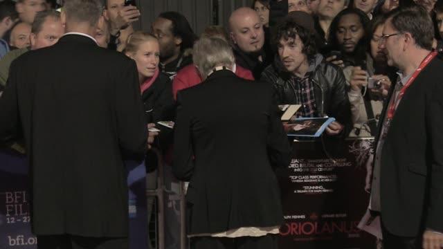 Vanessa Redgrave at the Coriolanus Gala Premiere 55th London Film Festival at London England