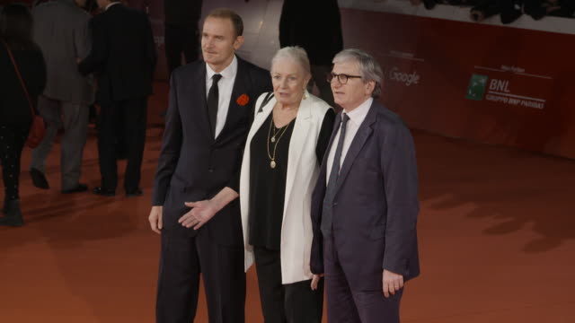vanessa redgrave carlo gabriel nero at vanessa redgrave red carpet 12th rome film fest on november 02 2017 in rome italy - rome film fest stock videos and b-roll footage