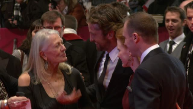 Vanessa Redgrave Gerard Butler Jessica Chastain Ralph Fiennes at the Coriolanus Premiere 61st Berlin International Film Festival at Berlin