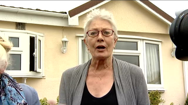 Vanessa Redgrave lends support to traveller families facing eviction Redgrave speaking to press SOT / Puxton speaking to press SOT