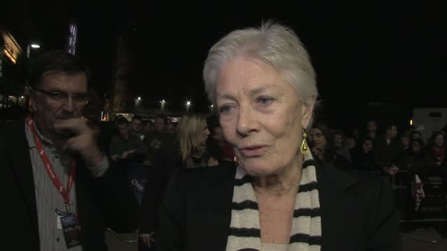 Vanessa Redgrave on Brian Cox and Jessica Chastain at the Coriolanus Gala Premiere 55th London Film Festival at London England