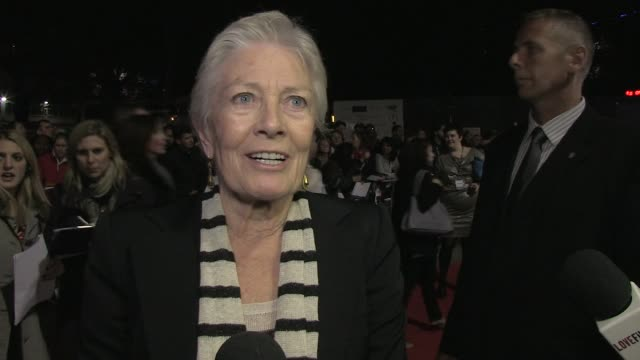 Vanessa Redgrave on Ralph Fiennes as a director at the Coriolanus Gala Premiere 55th London Film Festival at London England